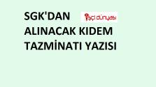15 3600 SGK yazısı örneği