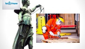 adalet kadını ve çalışan bir işçi