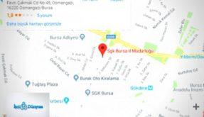 sgk bursa il müdürlüğü harita üzerinde adresi