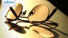 ışık altında gözlük
