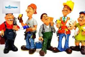5 işçi illüstrasyonu